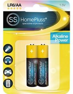 Pila alkalina homepluss lr06 (aa) bl(2) de marca caja de 10