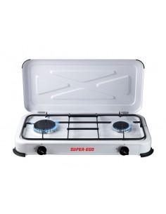 Cocina portatil gas seh024800 2 fuegos de super ego