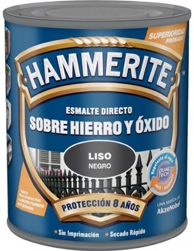 Hammerite metálico liso 750ml negro de hammerite caja de 6