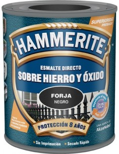 Hammerite metálico forja 750ml negro de hammerite caja de 6