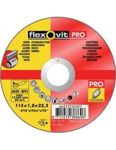 Disco flexovit inoxidable a60sbf41 115x1,0x22 de flexovit caja