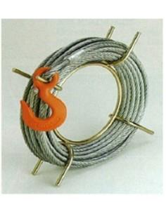 Cable 30m 8,3mm con gancho y enrollador de alba