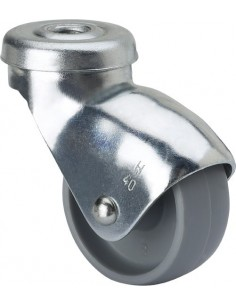 Rueda 3/0019 s.h ø 30 plastico gris de alex caja de 70 unidades