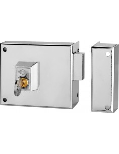 Cerradura sobreponer 124a-12 izq/1 hierro esmaltado de cvl