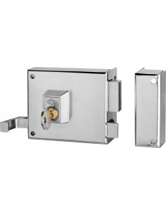 Cerradura sobreponer 125a-08 izq/1 hierro esmaltado de cvl