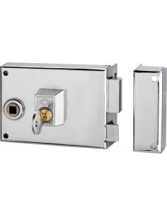 Cerradura sobreponer 1125br-12 der/1 hierro esmaltado de cvl