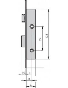 Cerradura embutir 1984c-20/6 acero inoxidable de cvl caja de 2