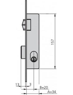 Cerradura embutir 1964v/6 acero inoxidable de cvl