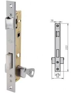 Cerradura embutir 1975/0 hierro niquelado de cvl