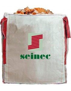 Saco big bag 90x90x90 1000kg blanco de seinec
