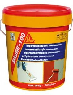 Revestimiento acrilico sikafill-100 20kg gris de sika