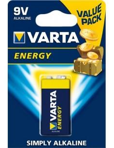 Pila alcalina energy 4122-9v 6lr-61 bli(1)var de varta caja de