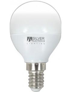 Lampara esferica 960214 led e14 4,5w 3000k de silver sanz caja