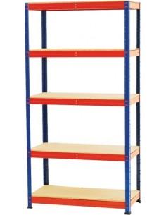Kit 5 estanteria sin tornillos 177x90x45 200kg de marca