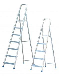 Escalera domestica aluminio 6 peldaños en-131 de marca