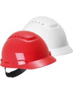 Casco seguridad h700crd con ventilación rojo de 3m