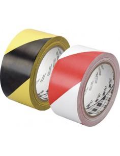 Cinta vinilo adhesiva 67irb50 33mx50mm rojo/blanco de 3m