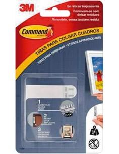Tira adhesiva command 17202blk negra 8pz de 3m caja de 20