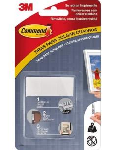 Tira adhesiva command 17201 blanca 8pz de 3m caja de 10 unidades