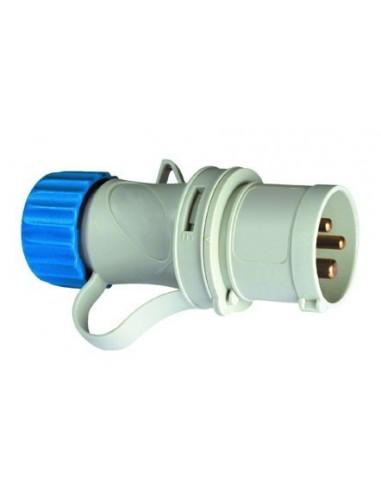 Clavija cetac 1100050 2p + t 220v/16a azul de asein