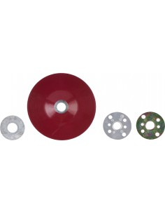 Plato plano rojo 64857 acabado 115mm de 3m