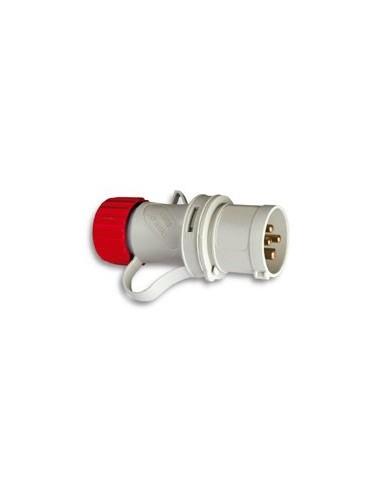Clavija cetac 1100051 3p + t 380v/16a rojo de asein