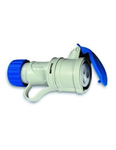 Base cetac 1100052 2p + t 220v/16a azul de asein
