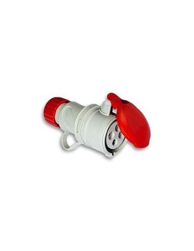 Base cetac 1100053 3p + t 380v/16a rojo de asein