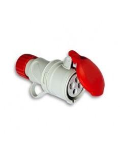 Base cetac 1100057 3p + n + t 380v/16a rojo de asein