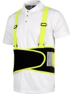 Faja con tirantes alta visibilidad wfa305 negro/amarillo t-xl