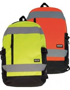 Mochila wfa401 alta visibilidad naranja 25l 24x47x15 de workteam