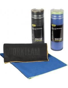 Toalla microfibra 130x80cm wfa450 azul/amarillo de workteam