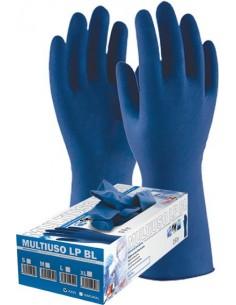 Guante latex desechable libre polvo blue 1300 txl c-50 de 3l