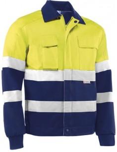 Cazadora alta visibilidad amarillo/azul hv746bc t-xxl de juba