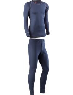 Camiseta + pantalon interior termico 730dn t-s marino de juba