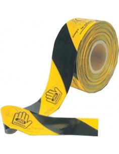 Rollo banda señal.250mt 4071.899 amarillo/negro de jar