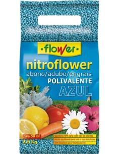 Abono polivalente nitroflower 10529 2,5kg azul de flower caja