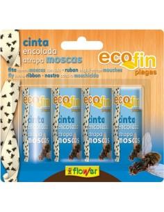 Cinta encolada moscas 70544 4pz blister de flower caja de 24
