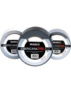 Cinta americana 398-50mmx10m plata de miarco caja de 6 unidades