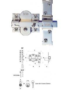 Cerrojo 01100 301-rpara 80 50mm niquel comp de fac