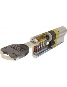 Cilindro tk-100 tk153040n 30x40 niquel 5 llaves de tesa