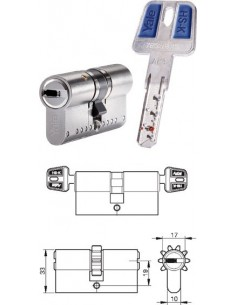Cilindro seguridad hs-k hskmod3535n 35x35 nm de yale