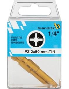 "Blister 02 puntas destornillador 239777pz2x50 1/4"" tin de"