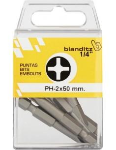 "Blister 05 puntas destornillador 239823 ph-3x50 1/4"" de bianditz"