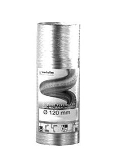 Tubo extensible aluminio blanco 100mm de westaflex caja de 100