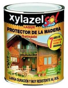 Xylazel lasur satinado 2140403 750ml castaño de xylazel caja de