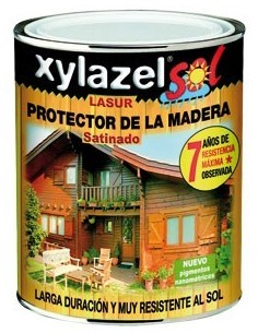 Xylazel lasur satinado 2140603 750ml nogal de xylazel caja de 6