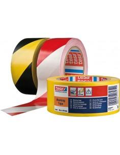 Cinta señalización 60760-33mx50mm amarilla de tesa-tape caja de