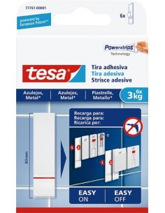 Tira adhesivo 77761 sms azulejos sujección 3,0kg de tesa-tape