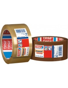 Cinta precinto 4024-66mx50mm marron de tesa-tape caja de 6